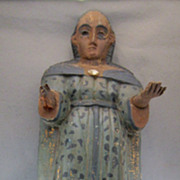SOLD Santos  Woman Turn of the Century Wood Carving