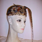 Fabulous Vintage Pheasant Feather Hat Long Feather Fascinator