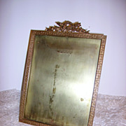 SOLD Antique French Bronze Ormolu Picture Frame Signed Stern Brothers c,1900 - Red Tag Sale It