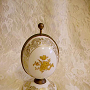 Vintage Limoges Egg Perfume Casket Goumot-Lobesse Made in France