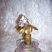 SOLD Vintage German Aurora Borealis Perfume Bottle Signed