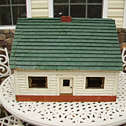 Huge Early Americana Folk Art Farm House Doll House 1920's