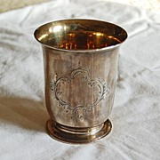 Antique English STERLING BEAKER - maker's mark: FB