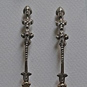 Antique Figural SALT SPOONS - Solid Silver, Shell Bowls