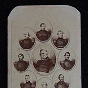 Carte De Viste Photograph - CIVIL WAR GENERALS / General Winfield Scott