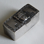 Antique South American STERLING BOX - early 20th Century / CAMEO HEAD