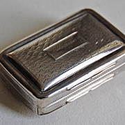 c1817, English Georgian Sterling VINAIGRETTE BOX - Simpson & Son, Birmingham