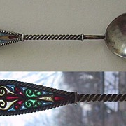 vintage PLIQUE DE JOUR / Sterling Spoon - NORWAY, signed JGK