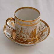 c1790, signed (Perche) OLD PARIS - Cup & Saucer