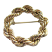 Binder Brothers 12K Gold Filled Rope Brooch