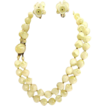 1930-40 Plastic Floral Necklace and Earring Set