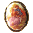 Early 1900 Fragonard Porcelain Cameo Brooch
