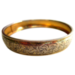 Gold Plated Chased Engraved Bangle Bracelet