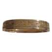 Rolled Gold Hinged Bracelet with Floral Celtic Pattern