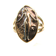 Venus Erycina Erotic Love Ring - Artifact Collection - Rose SIlver