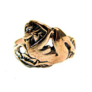Art Nouveau Reclining Nude Ring - Artifact Collection - Rose Silver
