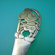1930s Mickey Mouse Sterling Child Fork