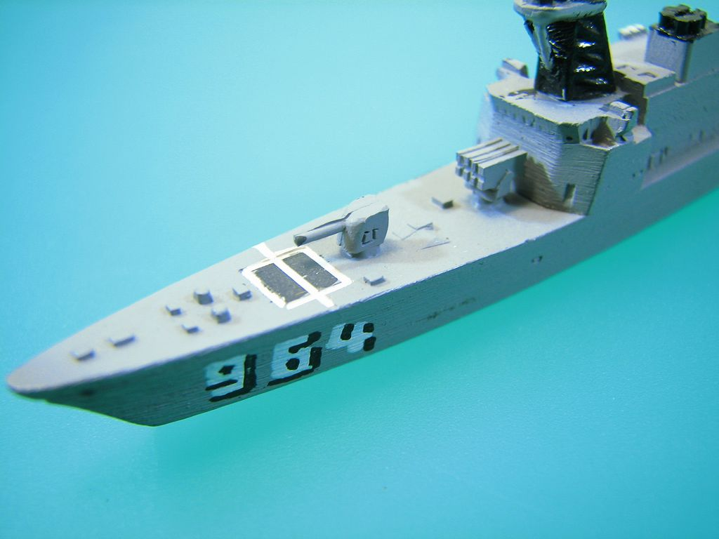 USS Foster DD-964 1250 Waterline Model - Destroyer