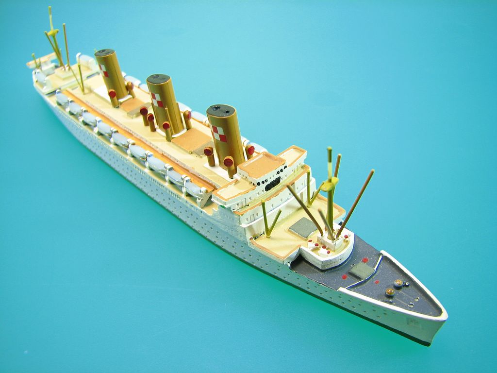 Empress of Scotland 1:1250 Scale Waterline Model