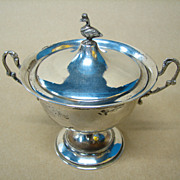 Silver Mother Goose Covered Bowl - Vintage