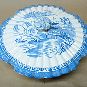 Blue Willow Copeland Spode England Covered Vegetable Casserole Bowl Fluted