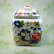 Vintage Biscuit Jar - Five Color Japanese Export