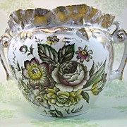 Vintage Falcon Ware Rose and Gold Planter 1930
