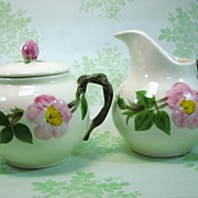 SALE Franciscan Desert Rose Sugar and Creamer Made in USA