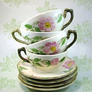 SALE 4 Franciscan Desert Rose Cup & Saucer Made in USA 48 -49