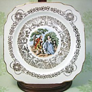 SALE Courtly Love Early American Harker Plate