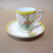 SALE Yellow Wild Flower Cup with Saucer by Noritake Vintage