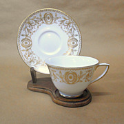 SALE Pompadour Cup with Saucers by Royal Worcester Vintage