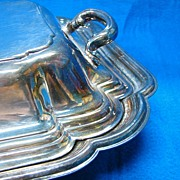 SALE Silverplate Double Serving Dish - Vintage