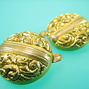 Victorian Ornate Scroll Cufflinks - Antique