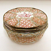 Antique Staffordshire Bilston Enamel Box