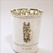 Sterling Kentucky Derby Style Julep Cup Trophy Raised Horse Head