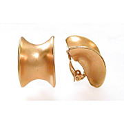 Robert Lee Morris Brushed Gold Tone Earrings
