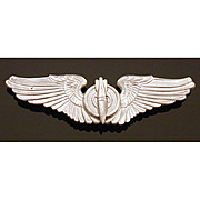"Gemsco Sterling WWII Bombardier Wings 3"" Pin USAAC Air Force"