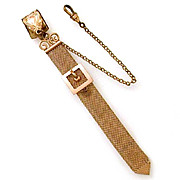 Antique Watch Fob Woven Chain Mesh with Buckle by SM&S
