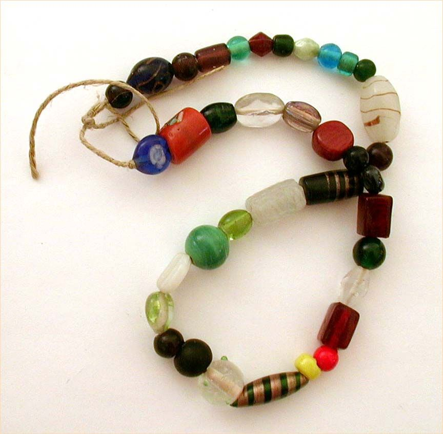 Venetian Trade Bead Necklace with 37 Unique Examples