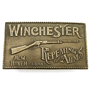 Winchester Repeating Arms Rifle Vintage Brass Belt Buckle