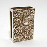 S. Kirk & Son Sterling Match Box Cover Case - Repousse Pattern