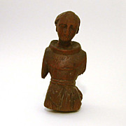 Antique Carved Wood Santo Fragment