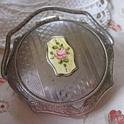 Art Deco Enameled Compact