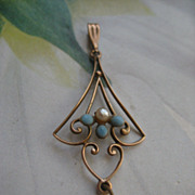 Dainty 10K Lavalier     Antique