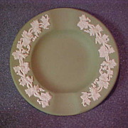 Wedgwood Jasper Ware Ashtray Excellent Condition Green and White