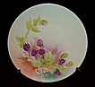 Hermann Ohme Silesia Hand Painted Black Berries Plate