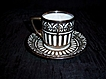 Demitasse Cup and Saucer with Sterling overlay Bavaria