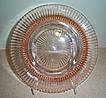 Hocking Glass Co. 'Queen Mary' Pink Depression Glass Dinner Plate