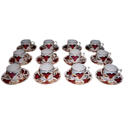 SALE Set of 12 Demitasse Cups and Saucers By Grosvenor China of England